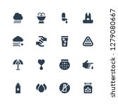 rain icon set. collection of 16 ... | Shutterstock .eps vector #1279080667