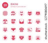 bikini icon set. collection of...   Shutterstock .eps vector #1279080697