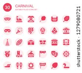 carnival icon set. collection... | Shutterstock .eps vector #1279080721