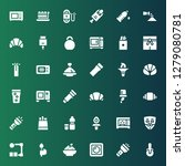 nobody icon set. collection of... | Shutterstock .eps vector #1279080781
