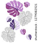 vector tropical pattern with... | Shutterstock .eps vector #1279082521