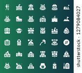 backpack icon set. collection... | Shutterstock .eps vector #1279084027