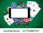 on line gaming mock up template.... | Shutterstock . vector #1279088767