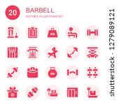barbell icon set. collection of ...   Shutterstock .eps vector #1279089121