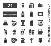 refreshment icon set....   Shutterstock .eps vector #1279089127