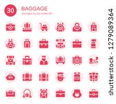 baggage icon set. collection of ... | Shutterstock .eps vector #1279089364