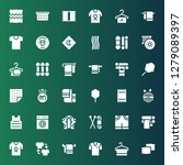 cotton icon set. collection of... | Shutterstock .eps vector #1279089397
