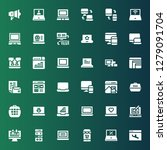 responsive icon set. collection ...   Shutterstock .eps vector #1279091704