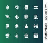 fighter icon set. collection of ...   Shutterstock .eps vector #1279091794