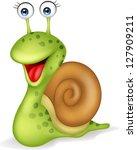 Stock photo snail cartoon 127909211