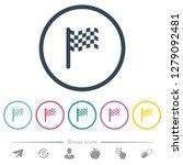 single race flag flat color... | Shutterstock .eps vector #1279092481