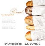 fresh baked traditional bread | Shutterstock . vector #127909877