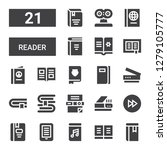 reader icon set. collection of... | Shutterstock .eps vector #1279105777