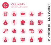 culinary icon set. collection... | Shutterstock .eps vector #1279105894