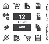 add icon set. collection of 12... | Shutterstock .eps vector #1279105957