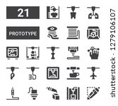 prototype icon set. collection... | Shutterstock .eps vector #1279106107