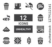 unhealthy icon set. collection...   Shutterstock .eps vector #1279112161