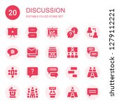 discussion icon set. collection ... | Shutterstock .eps vector #1279112221