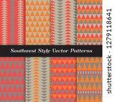 southwestern vector patterns... | Shutterstock .eps vector #1279118641