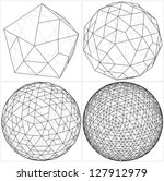 from icosahedron to the ball... | Shutterstock .eps vector #127912979