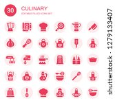 culinary icon set. collection... | Shutterstock .eps vector #1279133407