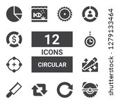 circular icon set. collection...