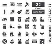 breakfast icon set. collection... | Shutterstock .eps vector #1279133491