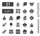 fluffy icon set. collection of... | Shutterstock .eps vector #1279133524