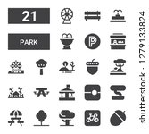 park icon set. collection of 21 ... | Shutterstock .eps vector #1279133824