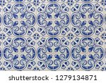 a pattern of traditional white...   Shutterstock . vector #1279134871