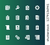 task icon set. collection of 16 ...