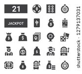 jackpot icon set. collection of ... | Shutterstock .eps vector #1279137031
