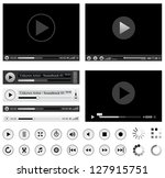 media players | Shutterstock .eps vector #127915751