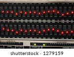 Graphic equalizer lights. - stock photo