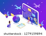 isometric bright concept site... | Shutterstock .eps vector #1279159894