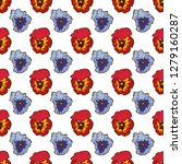 seamless floral pattern.... | Shutterstock .eps vector #1279160287