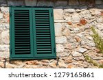 background with green window... | Shutterstock . vector #1279165861
