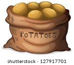 illustration of a sack of... | Shutterstock .eps vector #127917701