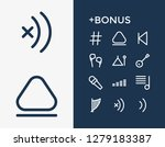 audio icon set and back with...