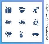 vehicle icon set and bulldozer...