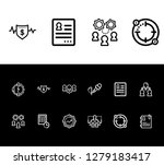 human resource icon set and... | Shutterstock .eps vector #1279183417