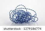 entangled blue and white string ... | Shutterstock . vector #1279186774