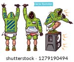 swag vector set   rapper with... | Shutterstock .eps vector #1279190494