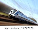fast train in motion | Shutterstock . vector #12792070