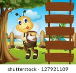 Illustration Of A Bee And The...