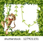illustration of a monkey in a...