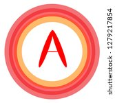 red letter in a circle of... | Shutterstock .eps vector #1279217854