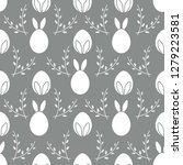 seamless pattern with easter...   Shutterstock .eps vector #1279223581