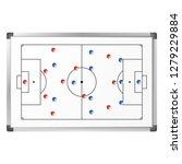 soccer game tactical scheme... | Shutterstock .eps vector #1279229884