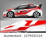 racing car wrap design. custom... | Shutterstock .eps vector #1279231114